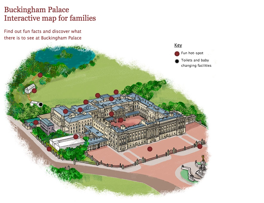 Heritage map illustration - Buckingham Palace