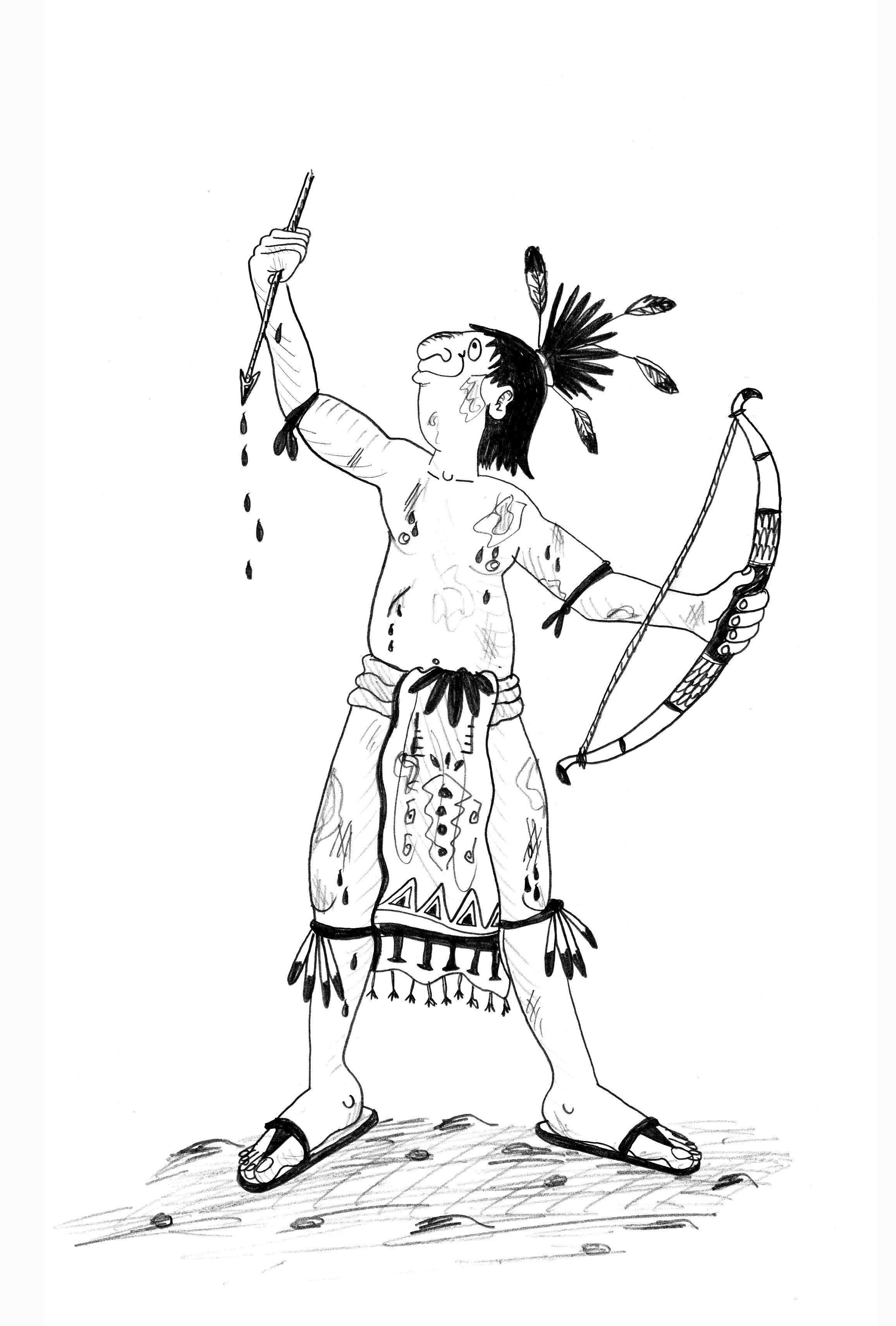 Children's educational illustrator Aztec Warrior