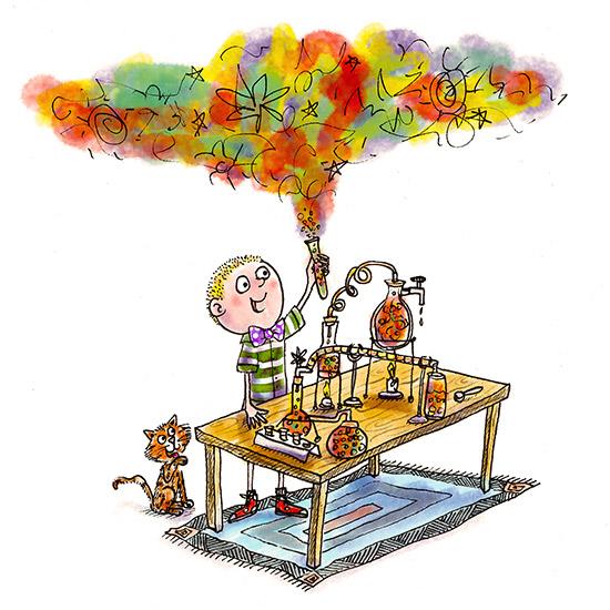 Freelance Children's Illustrator - Mad Scientist