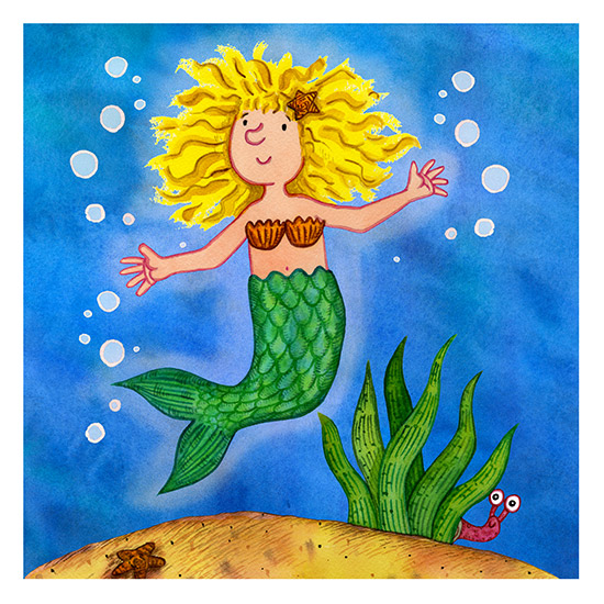 Mermaid Children's Illustration