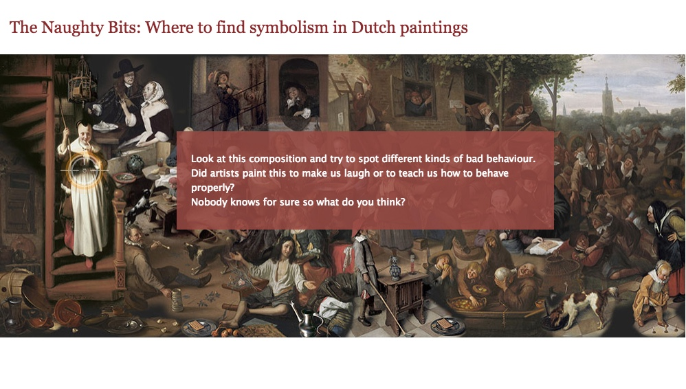 Symbolism Learning Interactive Screen Sample