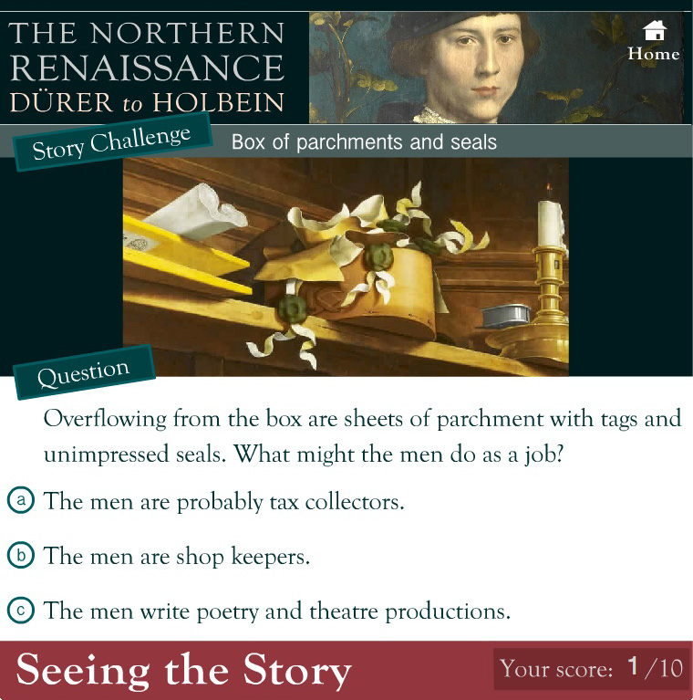 Seeing the Story Online Learning Interactive