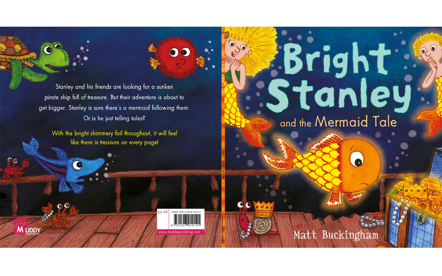 Bright Stanley and Mermaids Tale Cover Design