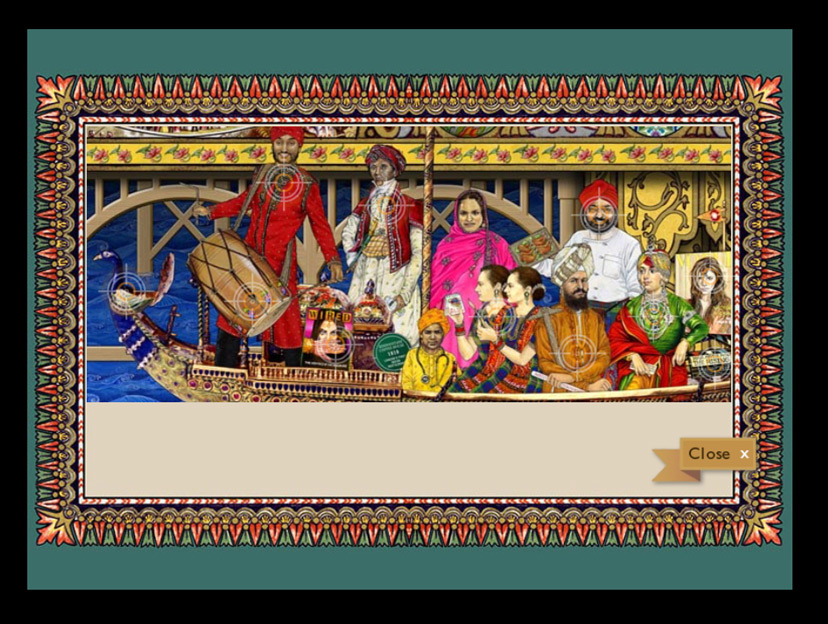 Splendours of the Subcontinent interactive screen design