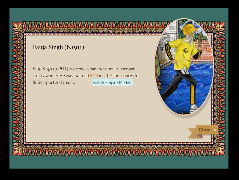 Splendours of the Subcontinent interactive screen