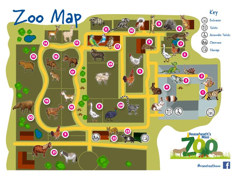 Visitor map design - front