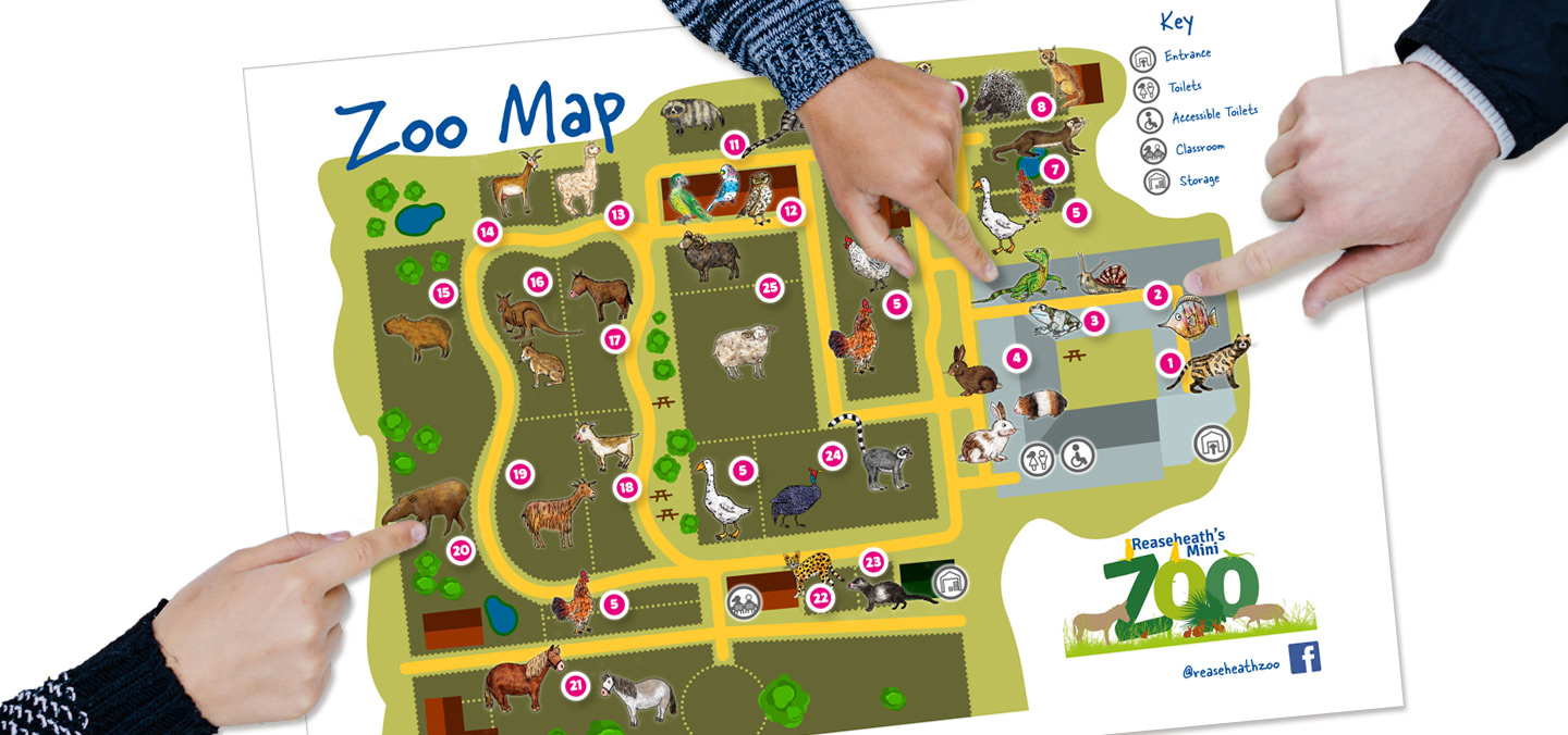 Reaseheath Zoo Map