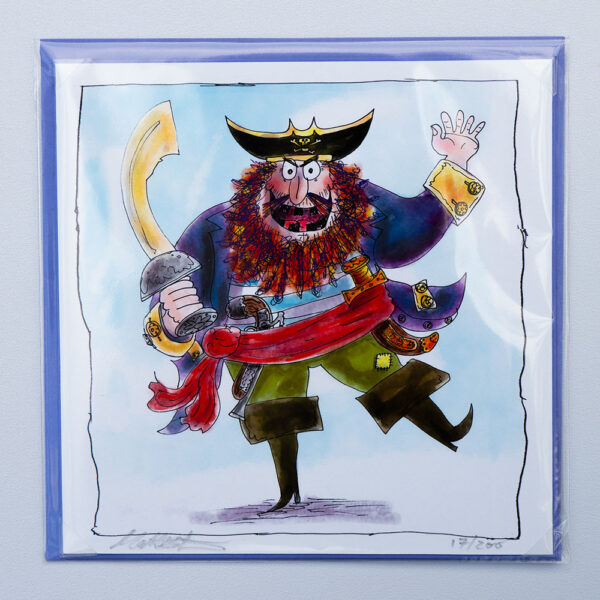 Pirate Print and Card by Matt Buckingham