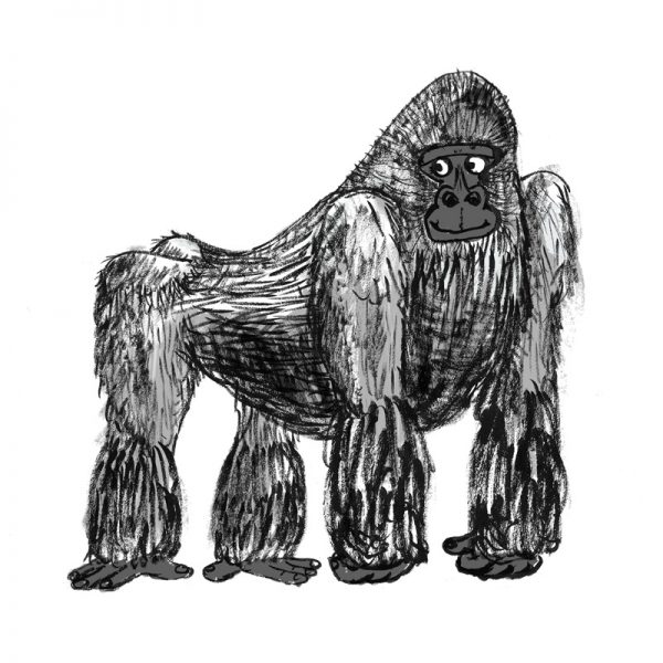 Gorilla Art Print / Greeting Card