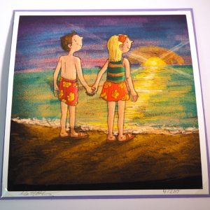 Couple on the beach card