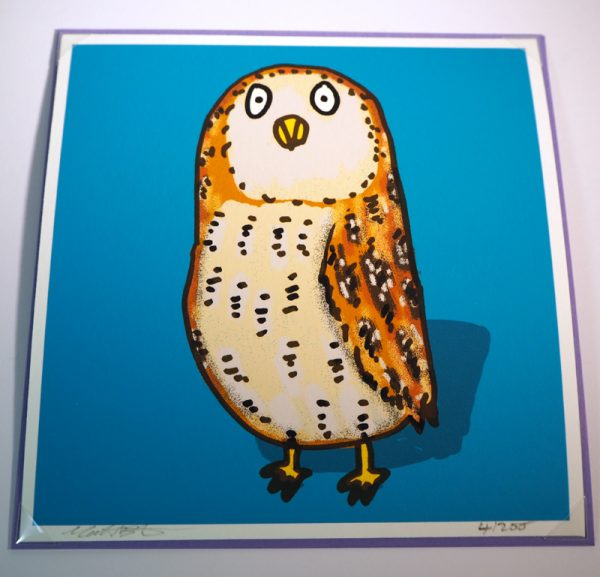 Owl greeting card - unique graduation card