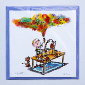 Mad Scientist Print and Card