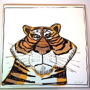 Tiger greeting card