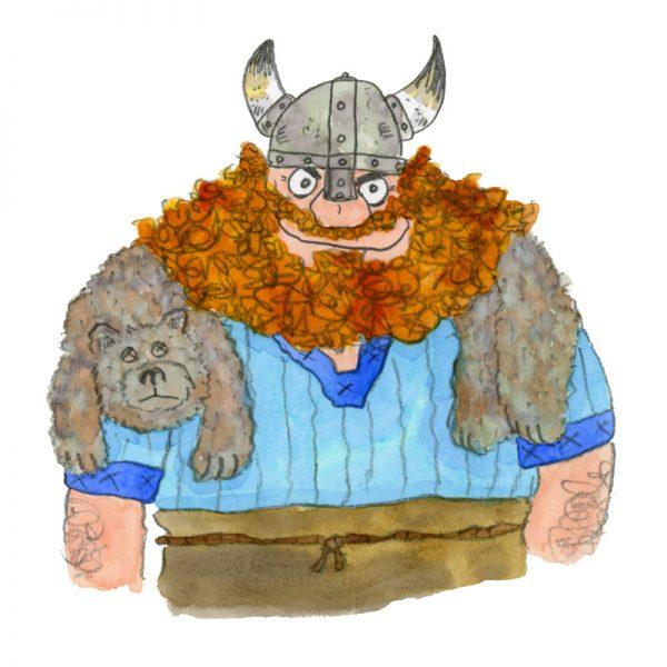 Viking Art Print Card