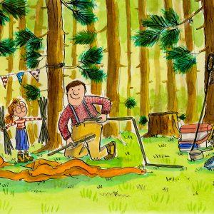Camping Print Art Large