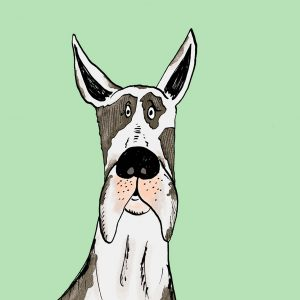 Great Dane Dog Print Large