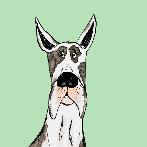 Great Dane Dog Print Large