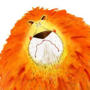 Lion Print Large
