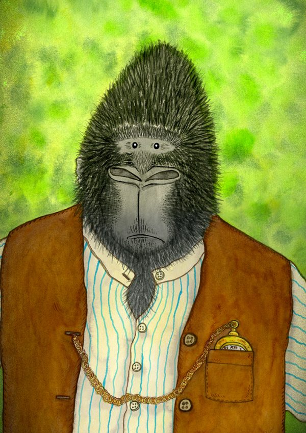 Gorilla animal themed print