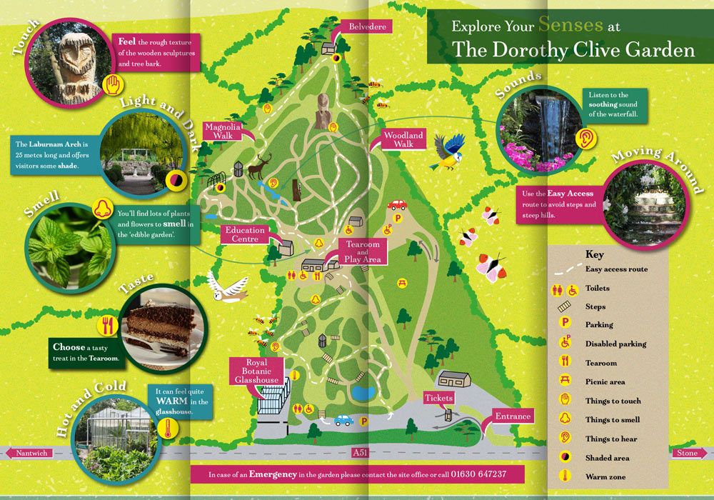 Sensory and discovery map design