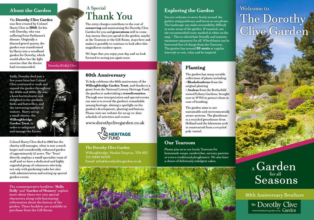 Anniversary brochure design