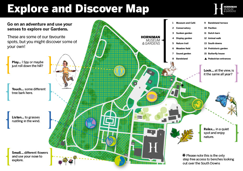 Horniman Explore and Discover Map