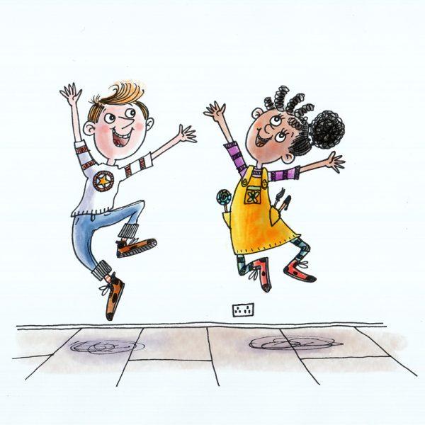 Jump for Joy Celebration Print and Card