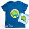 Kids dinosaur t-shirt organic - blue
