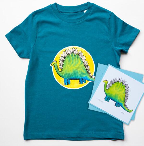 Kids dinosaur t-shirt organic