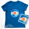 Kids Bright Stanley T-shirt and Card Gift Set - Royal Blue