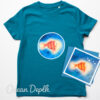 Kids Bright Stanley T-shirt and Card Gift Set - Ocean Depth
