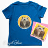 Kids Organic Bear T-shirt - blue
