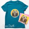 Kids Organic Bear T-shirt - ocean