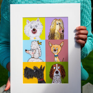 Dog artwork for Children's bedrooms and quirky interiors