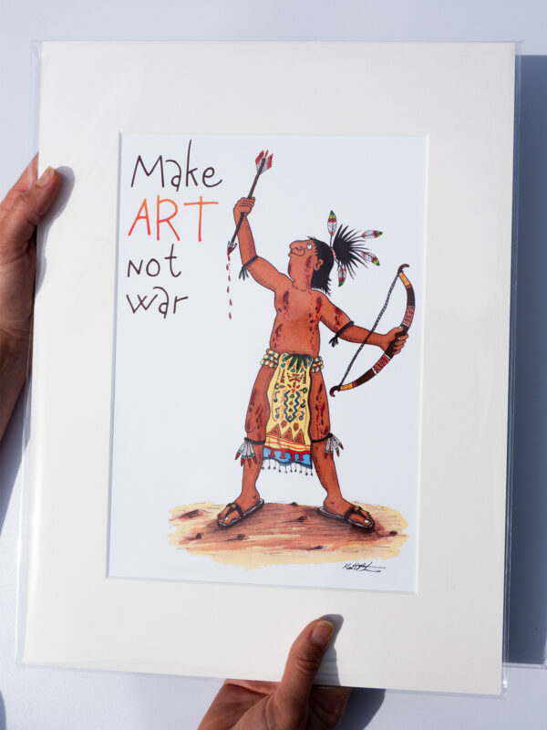 Make Art Not War Print for Family Rooms