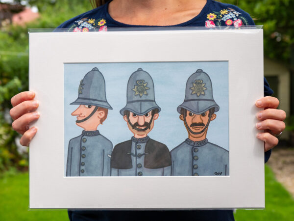 Police Bobbies artist print by Matt Buckingham