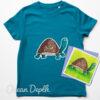 Kids Organic Tortoise T-shirt - ocean