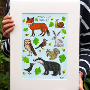 Woodland Children's Illustration Art Print
