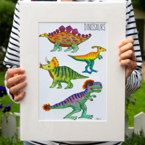 Dinosaurs Art Print by Matt Buckingham