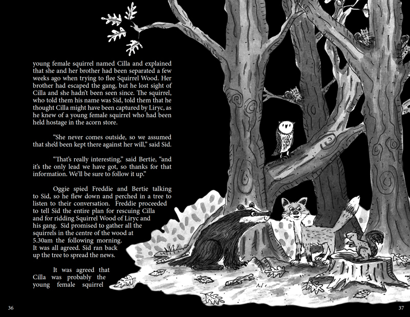Kristen and the Crow Inside Spread Design 3