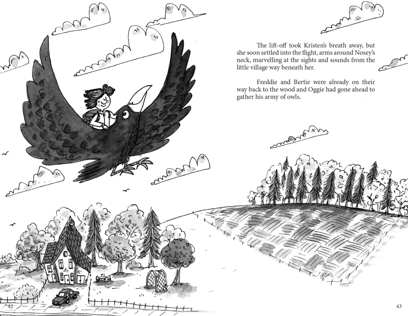 Kristen and the Crow Inside Spread Design 2