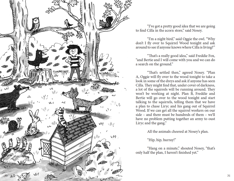 Kristen and the Crow Inside Spread Design
