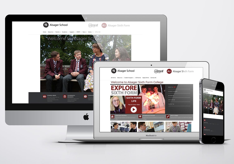 Alsager School Website Design